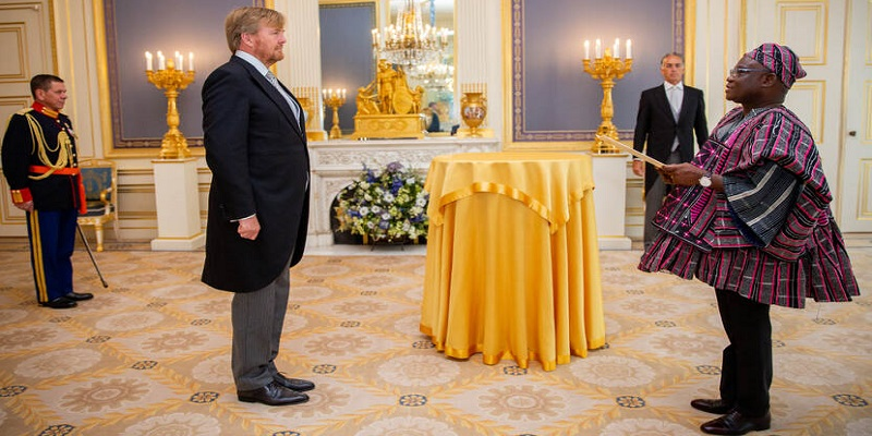 Ghana's Ambassador presents his credentials to the Kingdom of the Netherlands